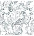 Koi fish seamless pattern vector image