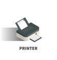 printer icon symbol vector image