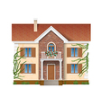residential house overgrown with ivy vector image