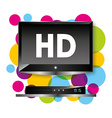 tv hd vector image