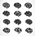 various brain creation and idea icons vector image