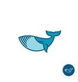 Whale logo vector image