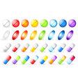 vitamins set vector image vector image
