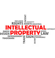 word cloud intellectual property vector image