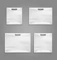 Disposable plastic bags templates design vector image