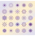 Set of violett snowflakes vector image vector image