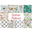 Science and knowledge seamless pattern wallpapers vector image vector image
