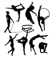 gymnastic silhouette vector image