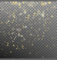 effect gold particles glitter light eps 10 vector image