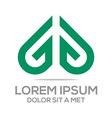 Logo Icon Love Couple Design Symbol vector image