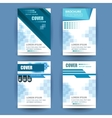 A4 cover annual flyer report business vector image