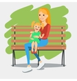 young mother with daughter vector image