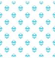 Blue swimsuit pattern cartoon style vector image