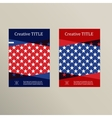 Brochure cover template Usa flag design vector image