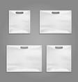 Disposable plastic bags templates design vector image