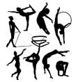 gymnastic silhouette vector image