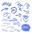 hand drawn isolated grunge brush vector image