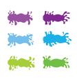 Juice Splash Banner Set Cool Tone Color vector image