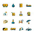oil industry icons set cartoon vector image