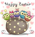 owls and egg vector image