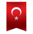 Ribbon banner - turkish flag vector image
