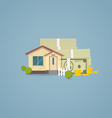 Flat house with money vector image