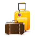 suitcases vector image