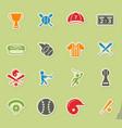 baseball simply icons vector image