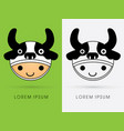 cow hat on smile child head vector image