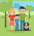 young parents flat vector image