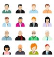 16 characters flat icons set vector image