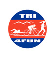 NX triathlon run swim bike CIRC vector image