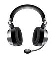 object headphones vector image