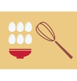 Eggs with plate vector image