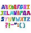 multicolor letters vector image vector image