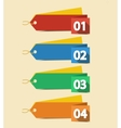 Numbered Labels vector image