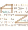 Scotch tape alphabet vector image vector image