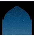 Arabic window Starry Sky Columns Eps 10 vector image