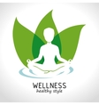 wellness healthy style design vector image
