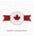 Happy Canada Day paper Label with Type vector image