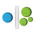 Abstract new design circles vector image