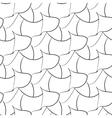 Black abstraction petals seamless pattern vector image