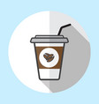 coffee cup logo icon design and coffee beans vector image