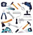 Construction renovation carpentry tools set vector image