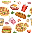 fast food seamless vector image
