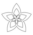 flower the black color icon vector image