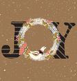Joy hand lettering vector image