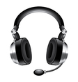 object headphones vector image
