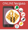 Online cooking recipes application flat vector image