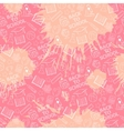Pink school pattern vector image